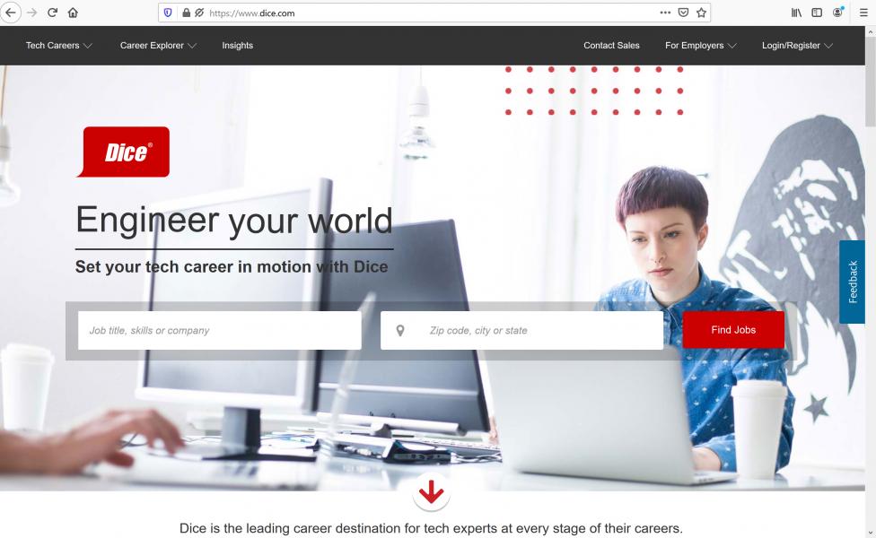using the best job sites - Dice