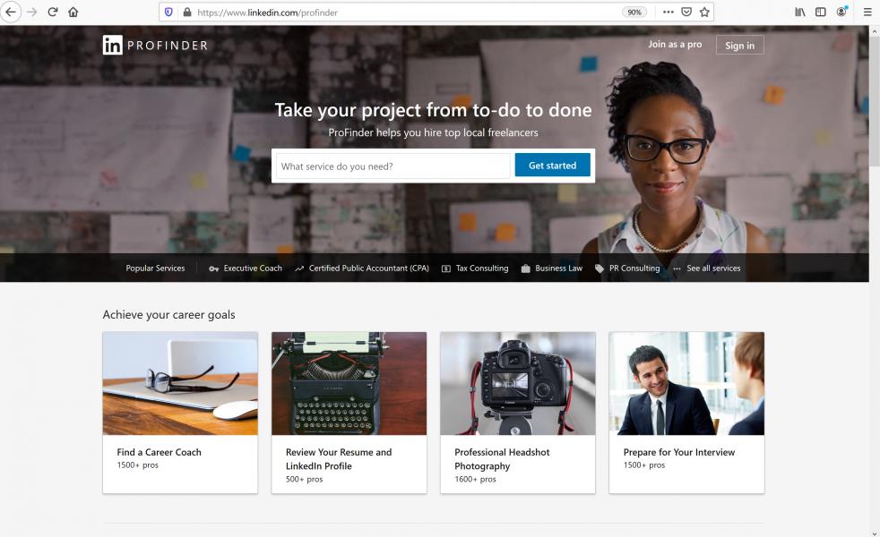 using the best job sites - LinkedIn Profinder